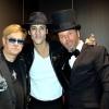 Avec les sosies d'Elton John et Christophe Maé.