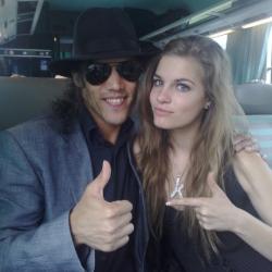 Avec Sarah Michelle Gotrot